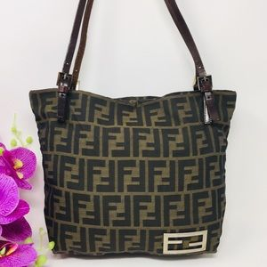 Preowned Authentic Fendi Shoulder Bag